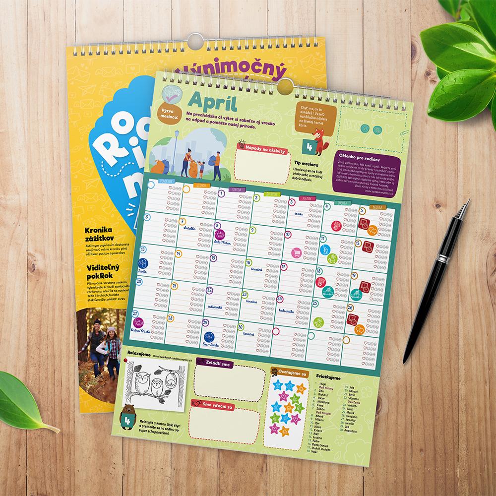 Ideas Innovations Kalendáre Rodinný krok